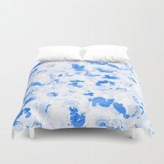AbstractFlora Lapis Blue Duvet Cover