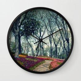 tulip park Wall Clock