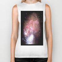 fireworks Biker Tanks featuring Fireworks by Helena Jade