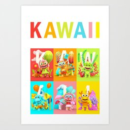 Kawaii Poster Art Print
