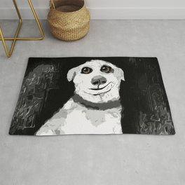 Man's Best Friend Pup Art Rug