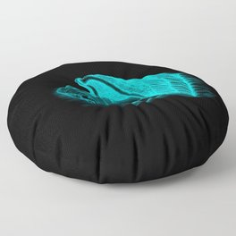 A sleeping Angel in black and green design Floor Pillow