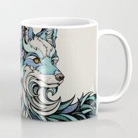 andreas preis Mugs featuring Berlin Fox by Andreas Preis