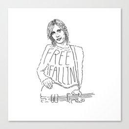 Tom Petty Free Fallin' Canvas Print