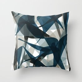 Abstract Whale Monotone Throw Pillow