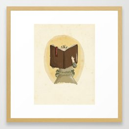 I'd Rather Be Reading Framed Art Print