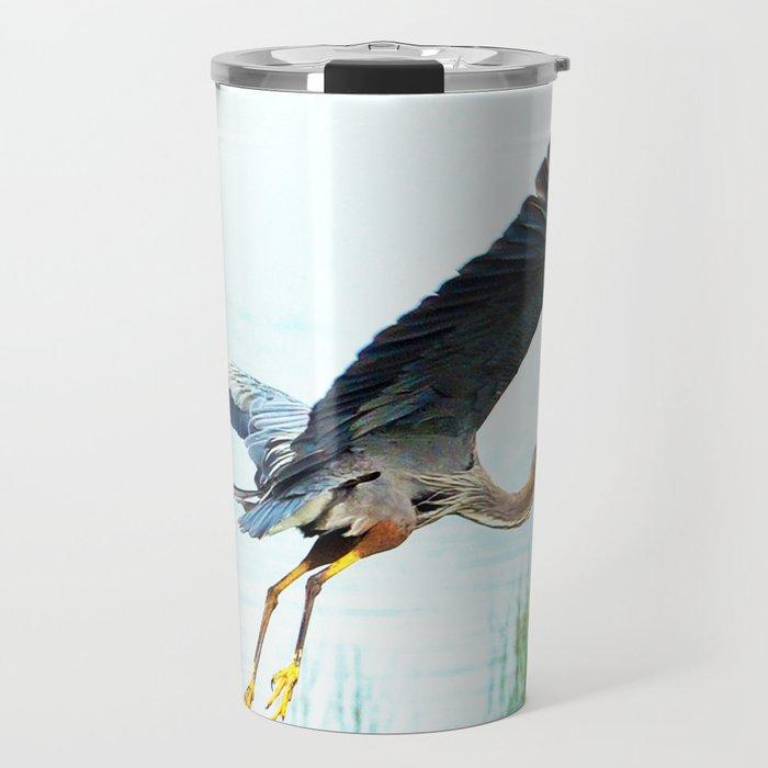 Great Blue Heron Travel Mug