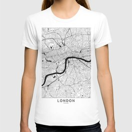 London Black and White Map T-shirt