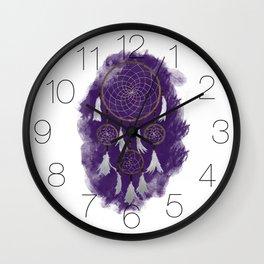 Classic Dreamcatcher: Purple background Wall Clock