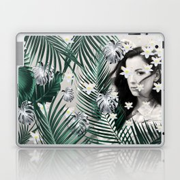 Flower Girl in the Jungle #1 #tropical #art #society6 Laptop & iPad Skin