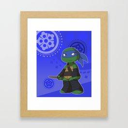 TMNT Chibi Leo Framed Art Print