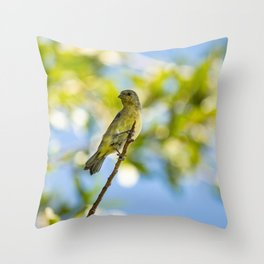 Yellow Bird - I Throw Pillow