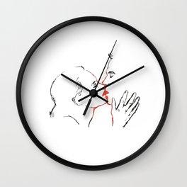 Red Kiss. Wall Clock
