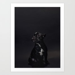 DOG AND CULTURE COLLIDE Art Print