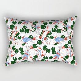 Red and blue koi fish pond. Japanese Print Pattern Rectangular Pillow
