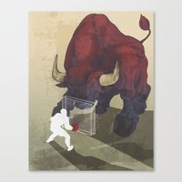 courage Canvas Prints featuring Courage by GlendaTse