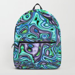 funky melted turquoise and blue Backpack