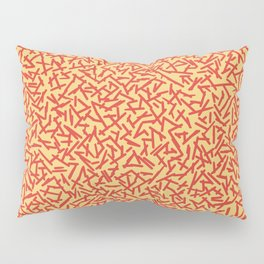 JUST A BUNCH OF LINES - ORANGE Pillow Sham