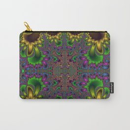 Fractal Oval Carry-All Pouch