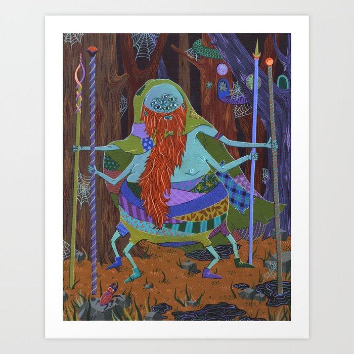 The Spider Wizard Art Print