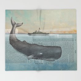 The whale Throw Blanket