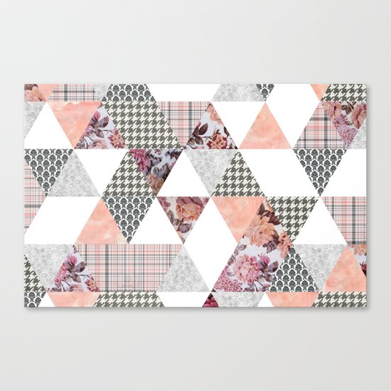 Pink Patterns Canvas Print