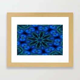 Battling At The Chasm Mandala 5 Framed Art Print