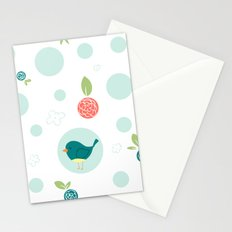 Birds with Polka Dots Stationery Cards