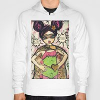 girl power Hoodies featuring Girl Power by Lisa Ferrante