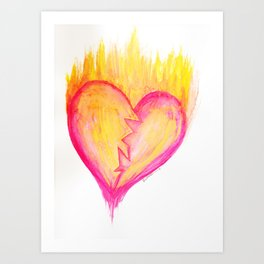 Cracked Passion Art Print