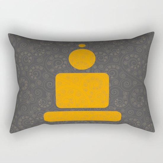 Geometric meditation - Buddha Rectangular Pillow