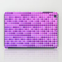 mosaic iPad Cases featuring Pink purple mosaic by David Zydd