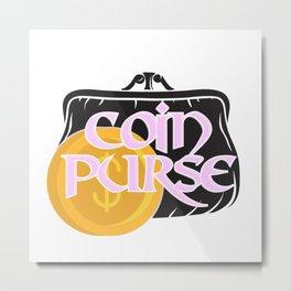 Coin Purse Metal Print
