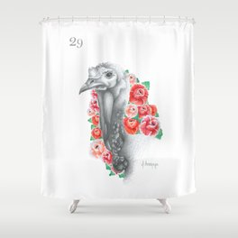 El Chompipe — from the series Lotería Shower Curtain