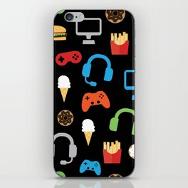 Video Game Party Snack Pattern iPhone Skin