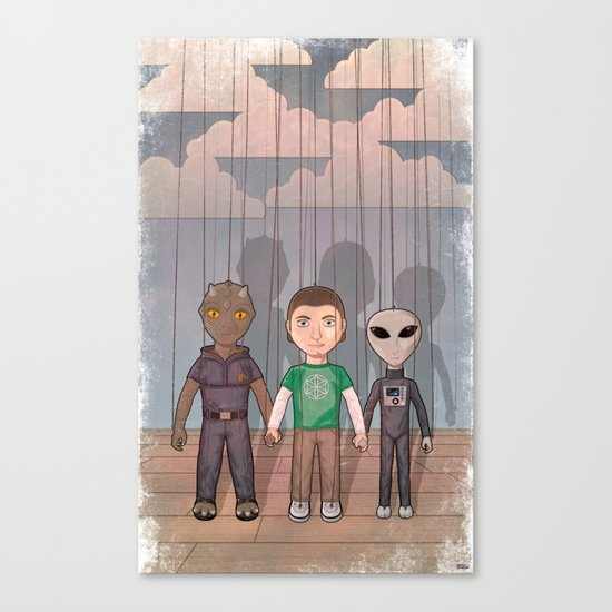 three little puppets Canvas Print