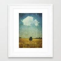 alone Framed Art Prints featuring aLone by Dirk Wuestenhagen Imagery