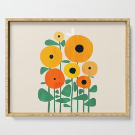 Sunflower and Bee Serving Tray