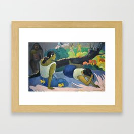 Paul Gauguin - Reclining Tahitian Women, Arearea no varua ino (1894) Framed Art Print