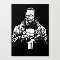 punisher Canvas Prints featuring Punisher by Levi Cleeman