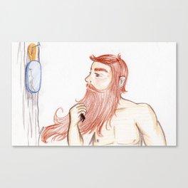 Luxurious Beard Mountain Man Canvas Print