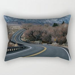 Blue Mountain Road Rectangular Pillow