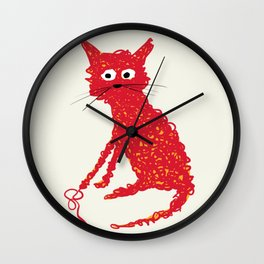 Alfred cat Wall Clock