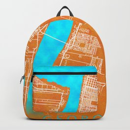 Georgetown, Guyana, Gold, Blue, City, Map Backpack