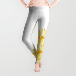 Flower minimal margarita daisy Leggings