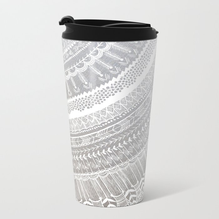 Silver Metal Travel Mug