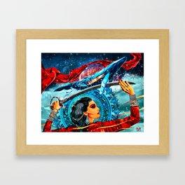 Girl with a sword Framed Art Print