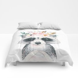 Forest Raccoon by Nature Magick Comforters