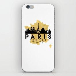 PARIS FRANCE SILHOUETTE SKYLINE MAP ART iPhone Skin