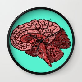 Brain Map Wall Clock